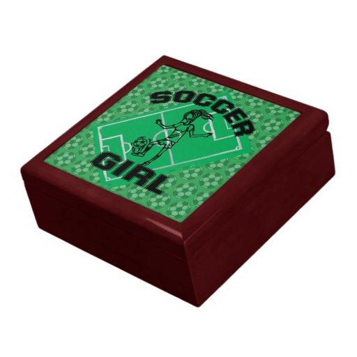 Fashion Soccer girl football design Jewelry Box