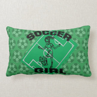 Fashion Soccer girl football design Lumbar Pillow