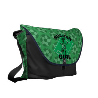 Fashion Soccer girl football design Messenger Bag