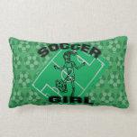 Fashion Soccer girl football design Pillows