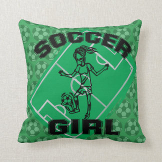 Fashion Soccer girl football design Throw Pillow