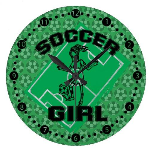 Fashion Soccer girl football design Wallclocks