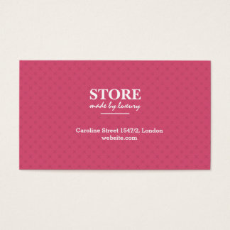 Fashion store business card. luxury pattern business card
