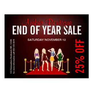 Fashion Store Sale Promotional Custom Postcard