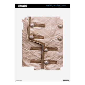 Fashion Strip Parade - Button n Embroidary Skin For iPad 3
