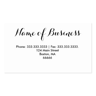 Fashion Style Photography Business Card