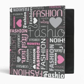 Fashion style typography photo album binder