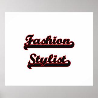 Fashion Stylist Classic Job Design Poster