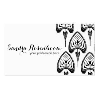Fashion Stylist Designer art nouveau pattern Business Card