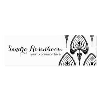 Fashion Stylist Designer art nouveau pattern Mini Business Card
