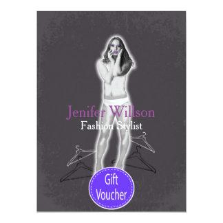 Fashion Stylist Gift Voucher 6.5x8.75 Paper Invitation Card