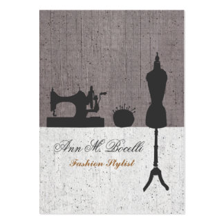 Fashion Stylist Mannequin Couture Large Business Cards (Pack Of 100)
