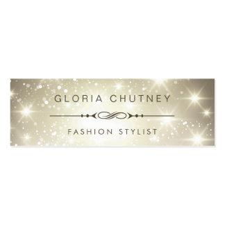 Fashion Stylist - Modern Sparkling Bokeh Glitter Mini Business Card