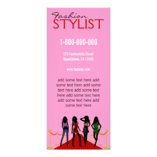 Fashion Stylist Promotional Rack Card Template
