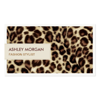 Fashion Stylist - Trendy Leopard Print Double-Sided Standard Business Cards (Pack Of 100)