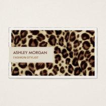 Fashion Stylist - Trendy Leopard Print Business Card