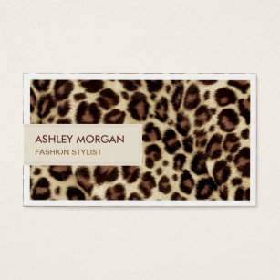 Leopard business cards 1800 leopard business card templates fashion stylist trendy leopard print business card colourmoves Image collections