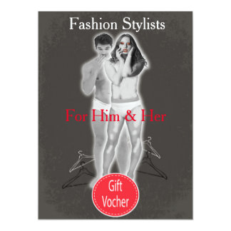 Fashion Stylists Gift Voucher 6.5x8.75 Paper Invitation Card