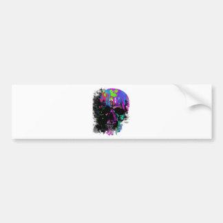 Fashion Summer Skull Skeleton Dead Man Reborn Bumper Sticker