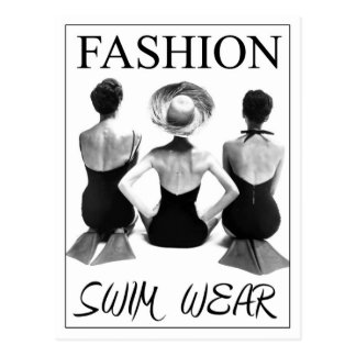 Fashion Swimwear 1950 Postcard