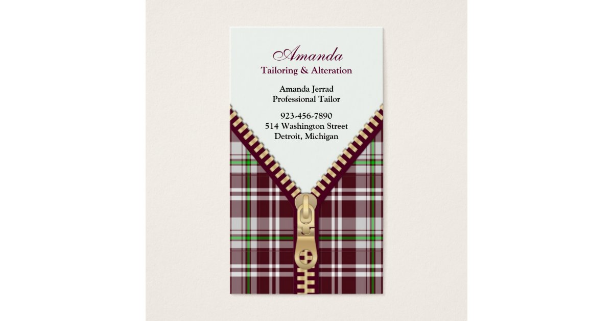 Fashion Tailoring Business Card | Zazzle.com
