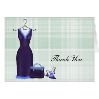 Fashion Thank You (Purple) Card