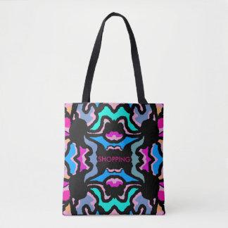 Fashion Tote Bag -Blue,Turquoise,Pink,Black