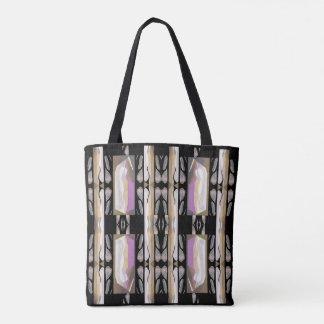 Fashion Tote Bag -Pattern on Pink/Gray/Black/Cream