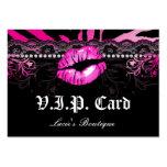 Fashion VIP Card Lace Lips Zebra Pink Business Card Templates