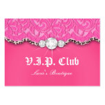 Fashion VIP Club Card Lace Lips Leopard Pink Business Cards