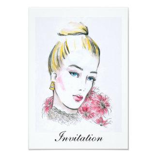 Fashion wedding watercolor illustration card