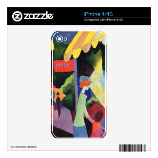 Fashion window by August Macke Decals For iPhone 4S