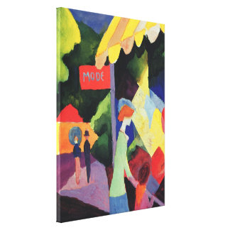 Fashion Window by August Macke Vintage Fauvism Gallery Wrap Canvas