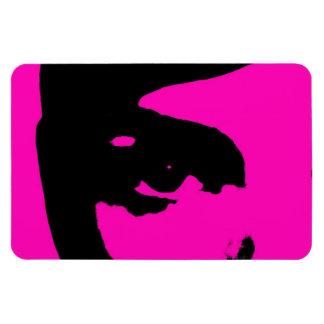Fashion woman pink black razberry magnet