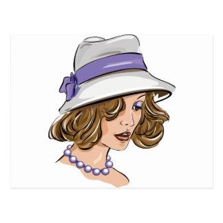 Fashion woman portrait postcard