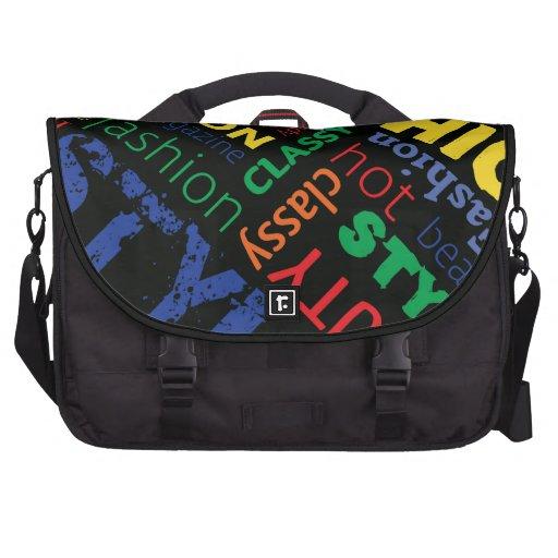 Fashion Word Cloud Laptop Bag