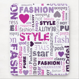 Fashion Word Collage Mousepads