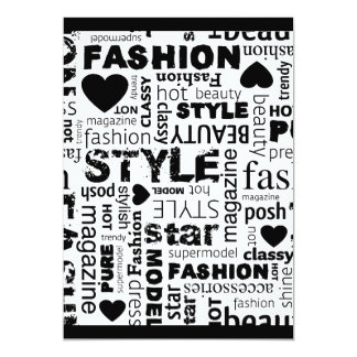 Fashion Word Collage Vector Illustration - alt Card