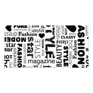 Fashion Word Collage Vector Illustration - alt Photo Card