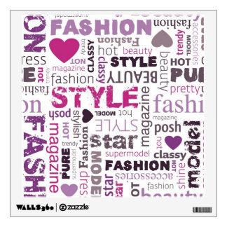 Fashion Word Wall Sticker