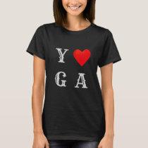 Fashion Yoga Heart T-Shirt