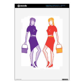 Fashion young lady iPad 3 skin