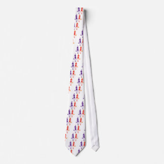 Fashion young lady neck tie