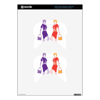 Fashion young lady xbox 360 controller decal