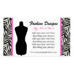 Fashion Zebra Print  Business Card