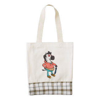 Fashion zebra zazzle HEART tote bag
