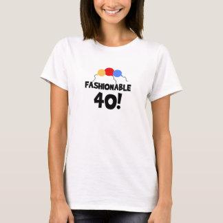 FASHIONABLE 40 40th Birthday T-Shirt