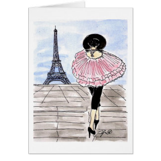 Fashionable and Pink in Paris Card