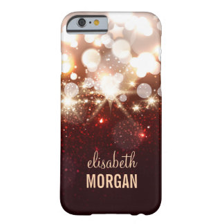 Fashionable and Stylish Gold Glitter Sparkle Barely There iPhone 6 Case