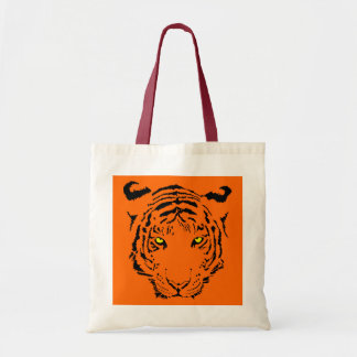 fashionable and trendy super cool tiger print tote bag